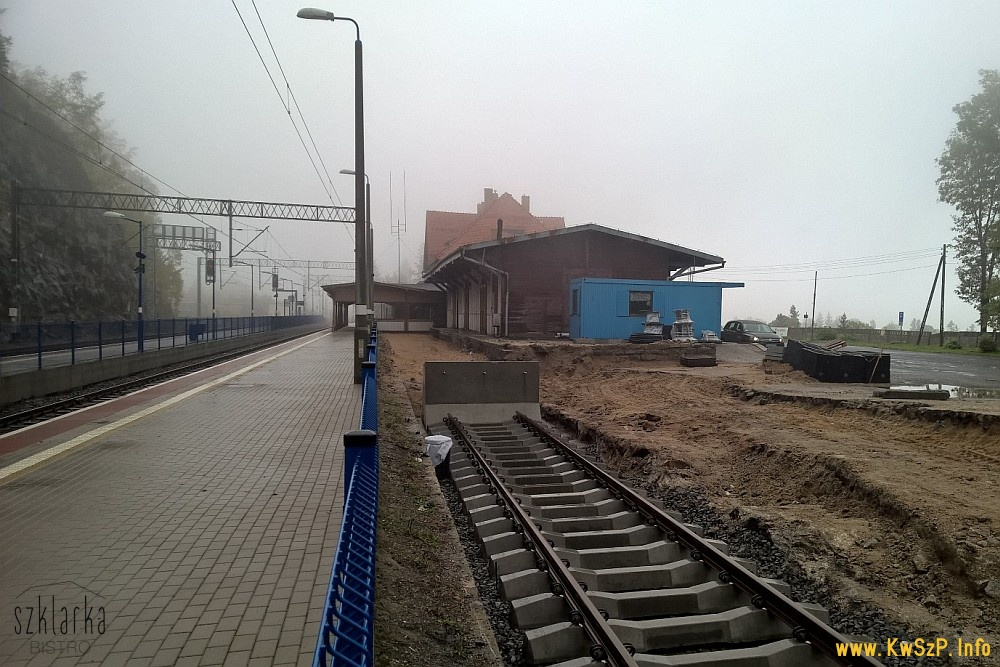 Szklarska Poręba Górna 13.10.2016 budowa peronu 3