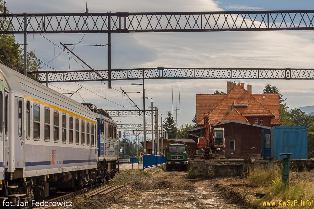 Szklarska Poręba Górna budowa peronu 3